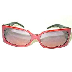Fendi Red Tortoise Frame Sunglasses
